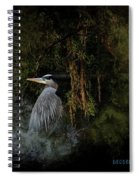 Great Blue Heron On The River Spiral Notebook