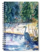 Great Blue Heron Square Cropped  Spiral Notebook
