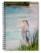 Great Blue Heron Two Spiral Notebook