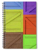 Great Crates - Multicolored Packing Boxes Stacked Spiral Notebook