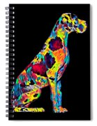Great Dane Big Dog Pet Full Body Chillin True Friend Spiral Notebook