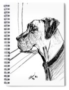 Great Dane Waiting Spiral Notebook