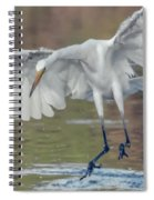 Great Egret Chase 072316-9861-2cr Spiral Notebook