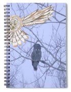 Great Gray Owl Together Spiral Notebook