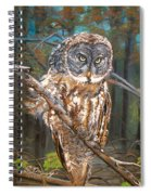 Great Grey Owl 2 Spiral Notebook