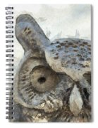 Great Horned Owl Pencil Spiral Notebook