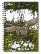 Great Horned Owl Takeoff Spiral Notebook