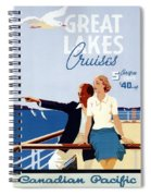 Great Lakes Cruises - Canadian Pacific - Retro Travel Poster - Vintage Poster Spiral Notebook