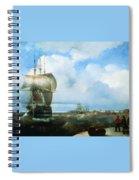 Great Roads At Kronstadt In 1836 715 H93 Ivan Konstantinovich Aivazovsky Spiral Notebook