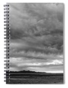 Great Salt Lake Clouds At Sunset - Black And White Spiral Notebook