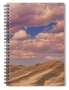 Great Sand Dunes And Great Clouds Spiral Notebook