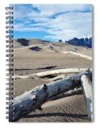 Great Sand Dunes National Park Driftwood Landscape Spiral Notebook