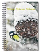 Great Tit In The Snow Card Spiral Notebook