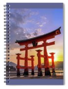 Great Torii Of Miyajima At Sunset Spiral Notebook