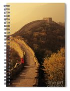 Great Wall In The Mist Spiral Notebook