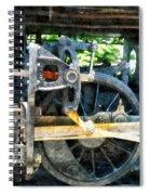 Great Western 90 Wheel Closeup Spiral Notebook