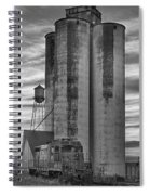 Great Western Sugar Mill Longmont Colorado Bw Spiral Notebook