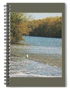 Great White Egret Fishing  Spiral Notebook