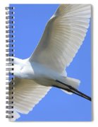 Great White Egret In Flight . 40d6850 Spiral Notebook