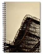 Great White Roller Coaster - Adventure Pier Wildwood Nj In Sepia Triptych 1 Spiral Notebook