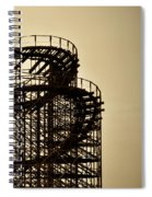 Great White Roller Coaster - Adventure Pier Wildwood Nj In Sepia Triptych 3 Spiral Notebook