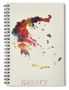 Greece Watercolor Map Spiral Notebook