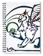 Greedy Gryphon Spiral Notebook