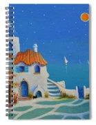 Greek Blue Santorini A Greek Fairytale Spiral Notebook