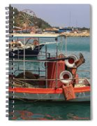 Greek Boat And Boots Spiral Notebook