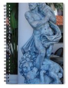 Greek Dude And Lion In Blue Spiral Notebook