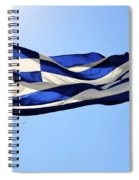 Greek Flag Spiral Notebook