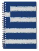 Greek Flag Smudged Spiral Notebook
