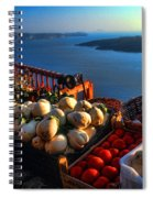 Greek Food At Santorini Spiral Notebook