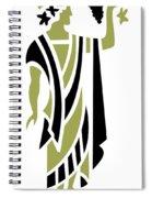 Greek Man In Olive Spiral Notebook