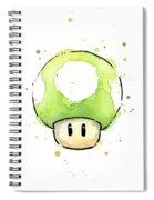 Green 1up Mushroom Spiral Notebook