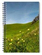 Green 4 Flowers Spiral Notebook