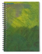 Green Abstract 1 Spiral Notebook
