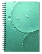 Green Abstract Of Oil Droplet.  Spiral Notebook