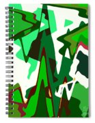 Green Abstract Squared #2 Spiral Notebook