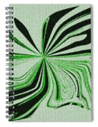 Green And Black Embroidered Butterfly Abstract Spiral Notebook