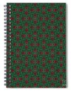 Green And Brown Chunky Cross Mirror Pattern Spiral Notebook