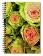 Green And Pink Rose Bouquet Spiral Notebook