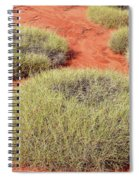 Green On Rusty Red Spiral Notebook