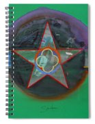 Green And Violet Spiral Notebook