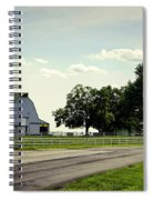 Green And White Farm Spiral Notebook