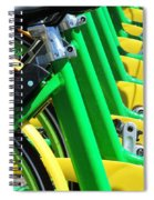 Green And Yellow Bicycles Spiral Notebook