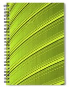 Green And Yellow Building Abstract Spiral Notebook