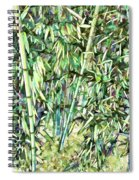 Green Bamboo Tree Spiral Notebook