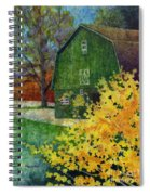 Green Barn Spiral Notebook