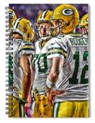 Green Bay Packers Team Art 2 Spiral Notebook